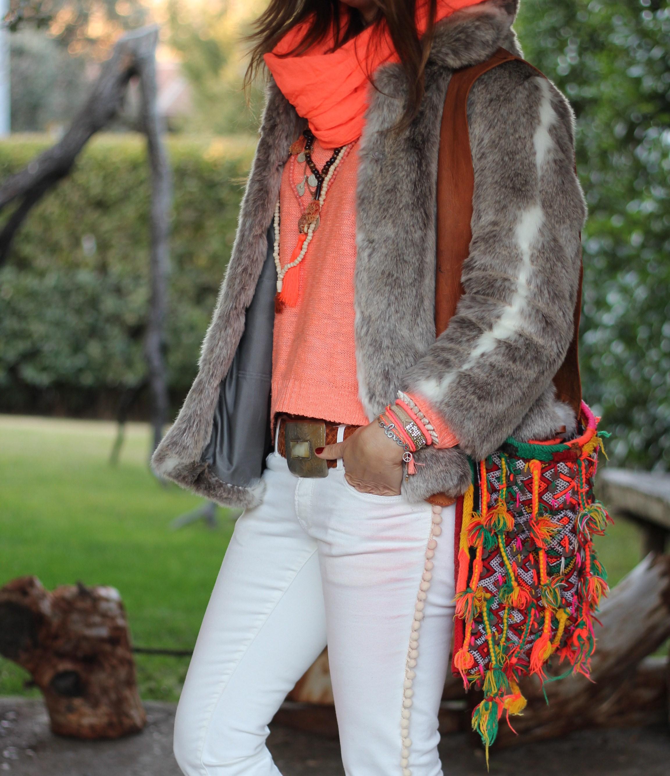 Mytenida´s collection bereber fluor satchel bag-59160-mytenida