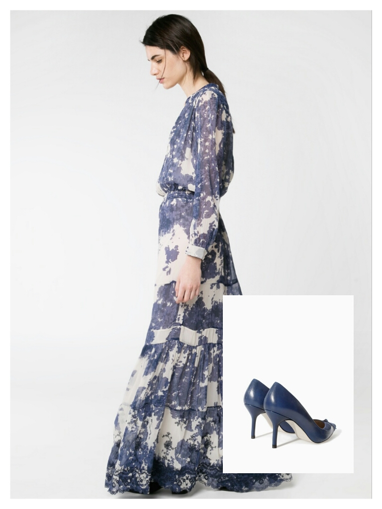 Vestido: Mango Zapatos: Zara