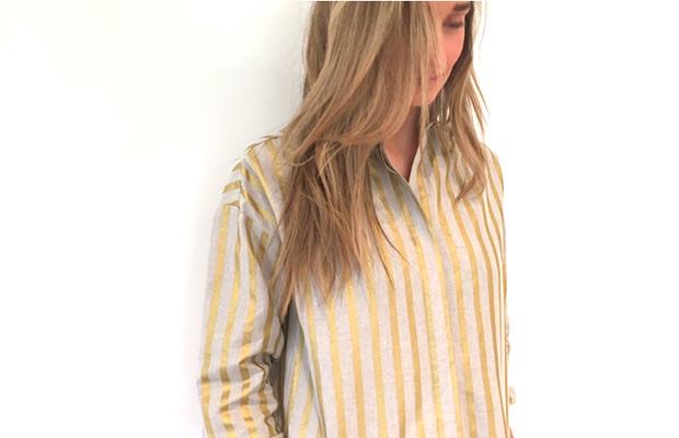 camisa de rayas de peperoni band