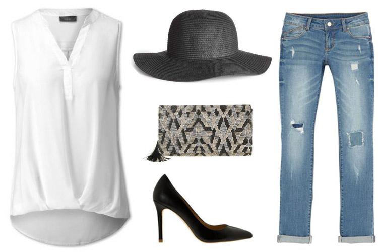 Blusa blanca-looks blusa blanca-plaza mayor malaga-centro comercial plaza mayor-vaqueros y blusa-fashion 4 me