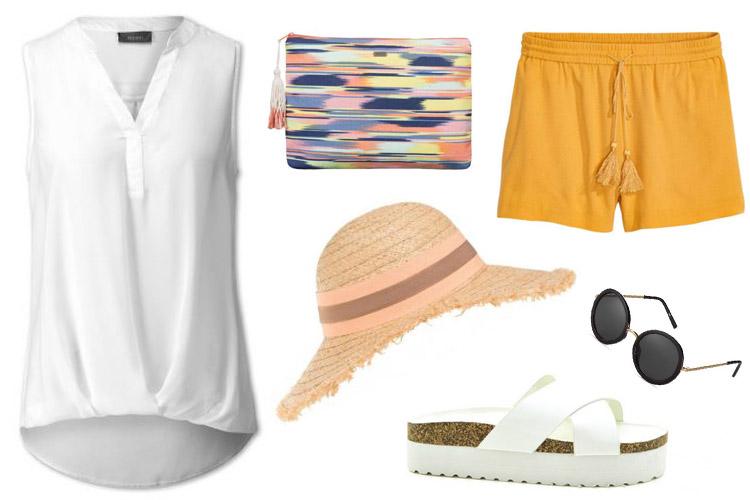 blusa blanca-plaza mayor malaga-centro comercial plaza mayor-looks blusa-look playa-blusa y shorts-fashion 4 me