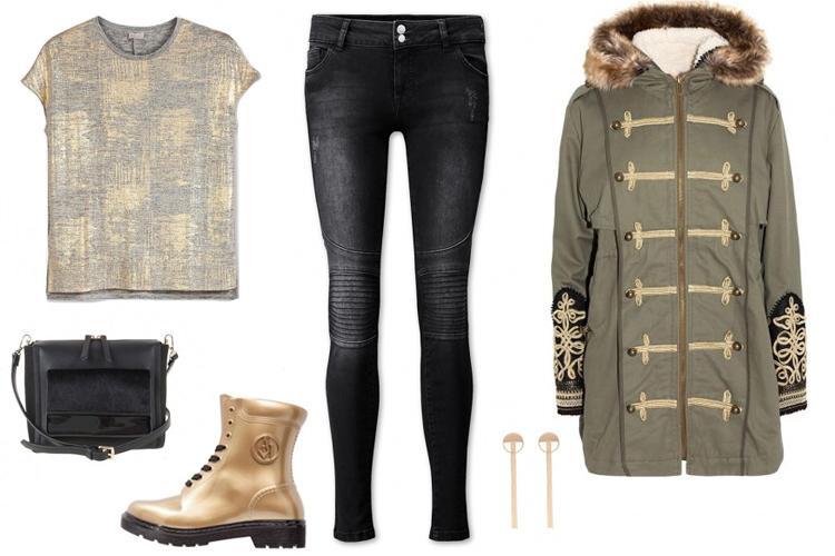 Look del día con abrigo estilo militar y mucho brillo-2008-asos
