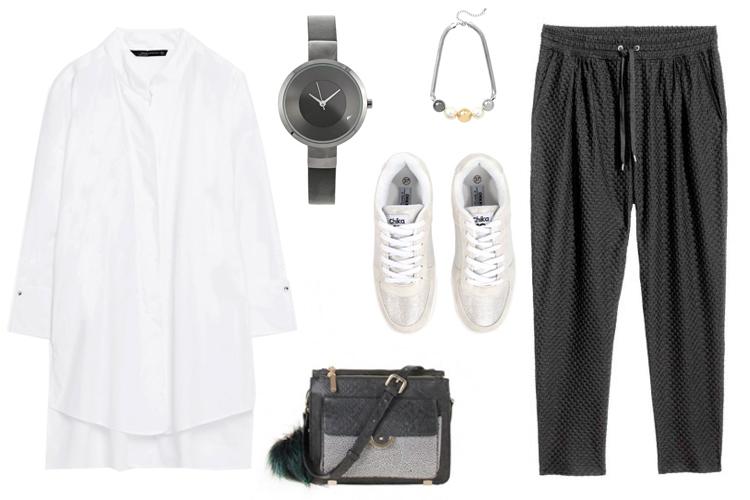 Look del día: joggers negros y camisa-1828-asos
