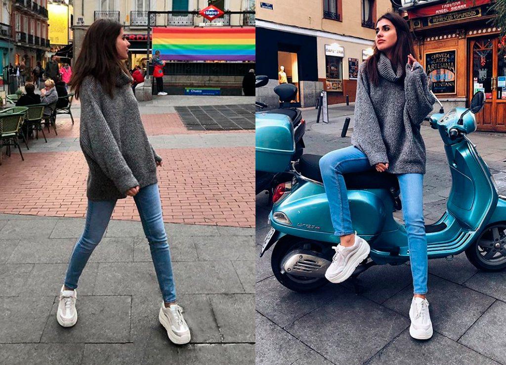 Mery Turiel con chunky sneakers