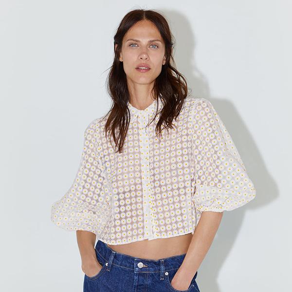 Camisa de margaritas de Zara