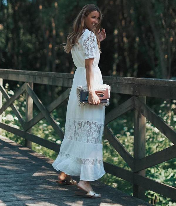 bartabac vestido blanco