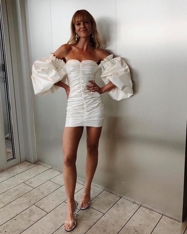 vestido abullonado jeanette