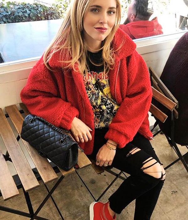 Chiara Ferragni con abrigo de borreguito | Plaza Mayor