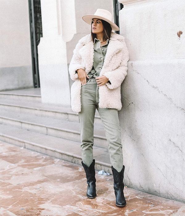 Marta Lozano con abrigo de pelito | Plaza Mayor