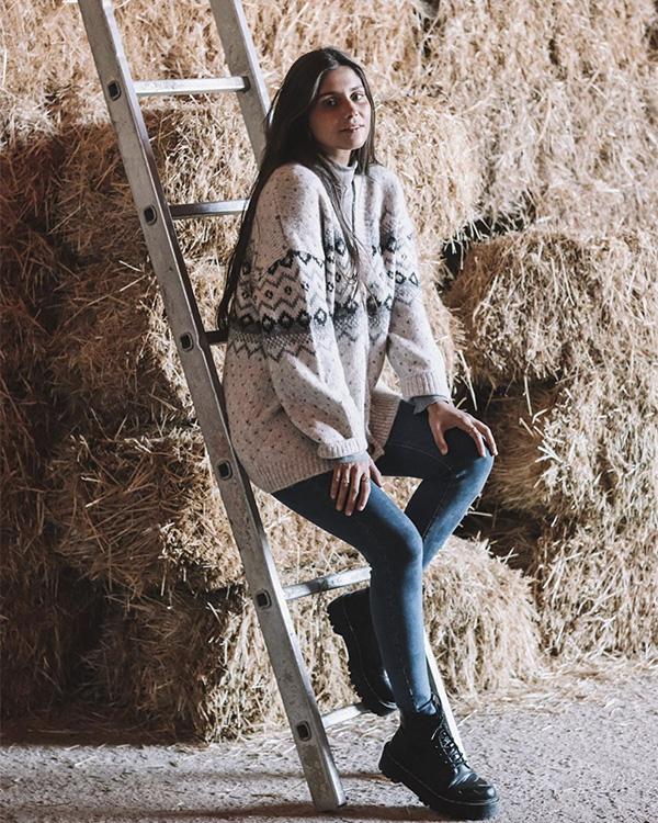 María G de Jaime con jersey invernal