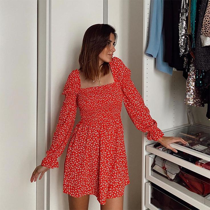 mery turiel vestido rojo looks para estar por casa