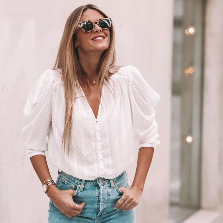 natinat natalia coll camisas para verano blanca de plumeti