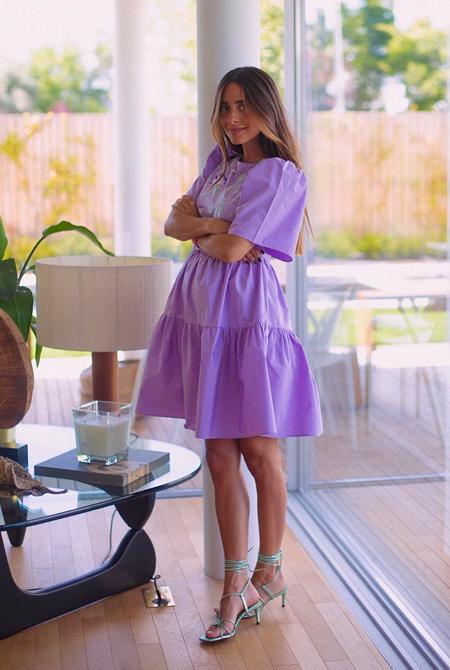 María F Rubies vestido lila