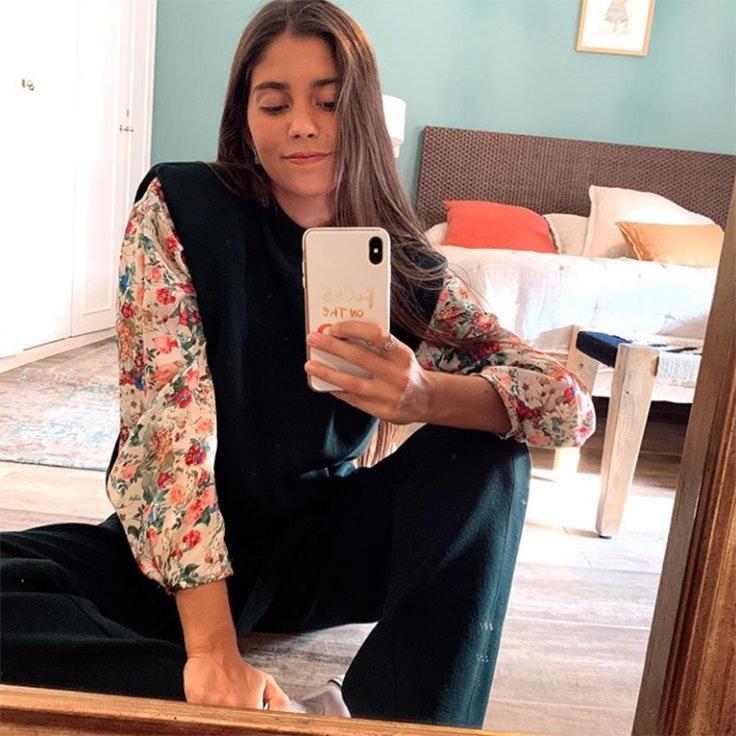 @mariagdejaime chaleco camisa de flores