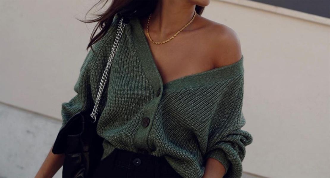 @anitadacosta novedades de parfois chaqueta de punto verde otoño invierno 2020