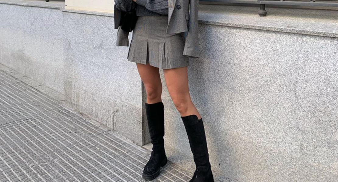 marta vidaurreta faldas y botas combinación invierno