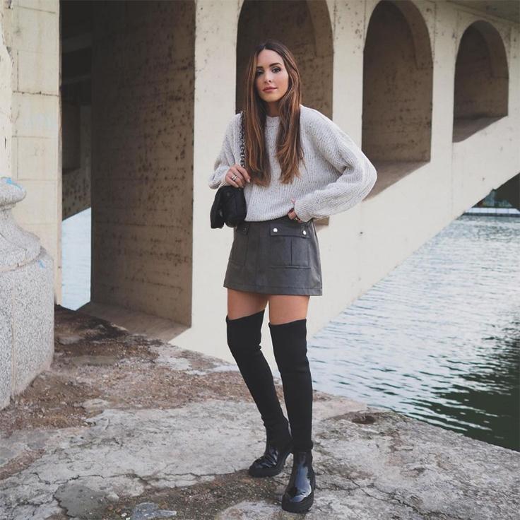 rocio osorno estilo faldas y botas