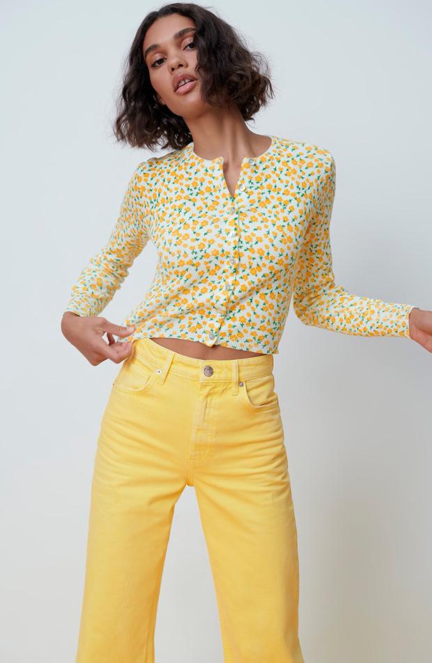 Cárdigan de flores amarillas de Zara