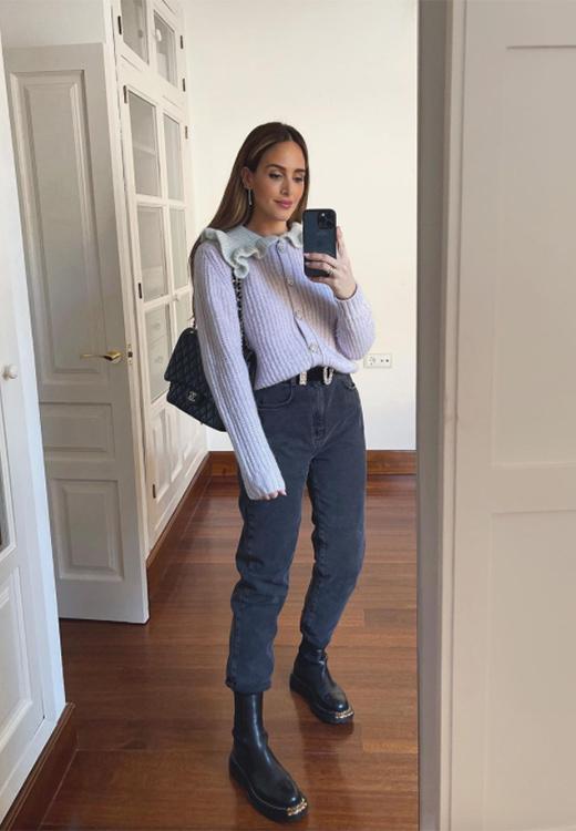 Rocío Osorno con jersey en tonos pastel