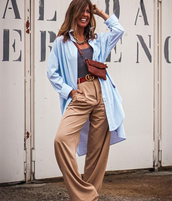 Influencers con camisa oversize