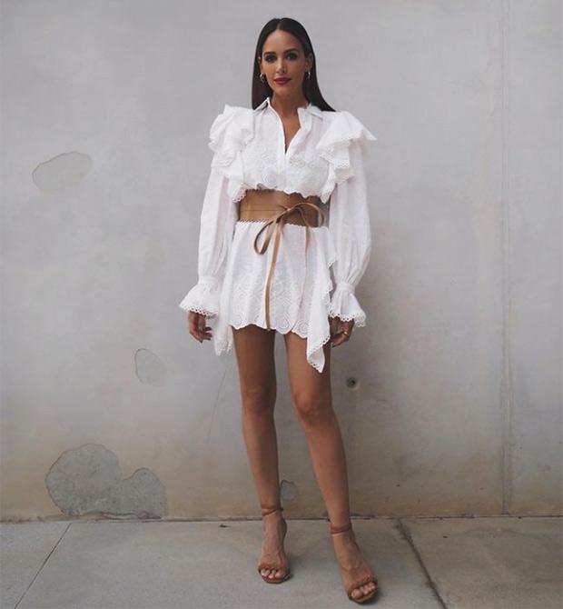 Influencers con vestido blanco