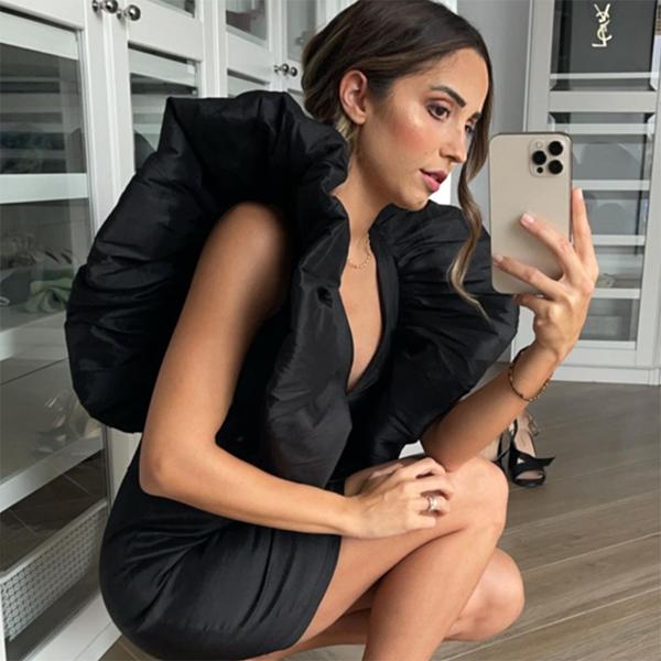 modajustcoco veronica díaz vestido negro volantes