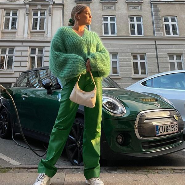 gigi vives color verde tendencias de otoño