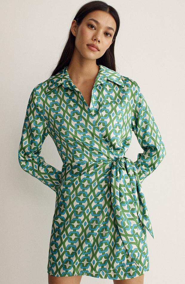 Vestido estampado geométrico de Mango