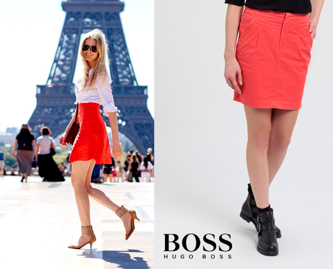 hugo-boss-falda-roja