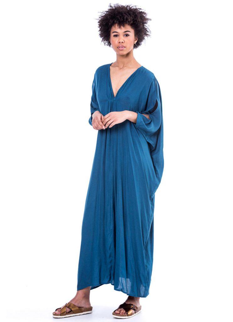 Vestido azul Estilo boho