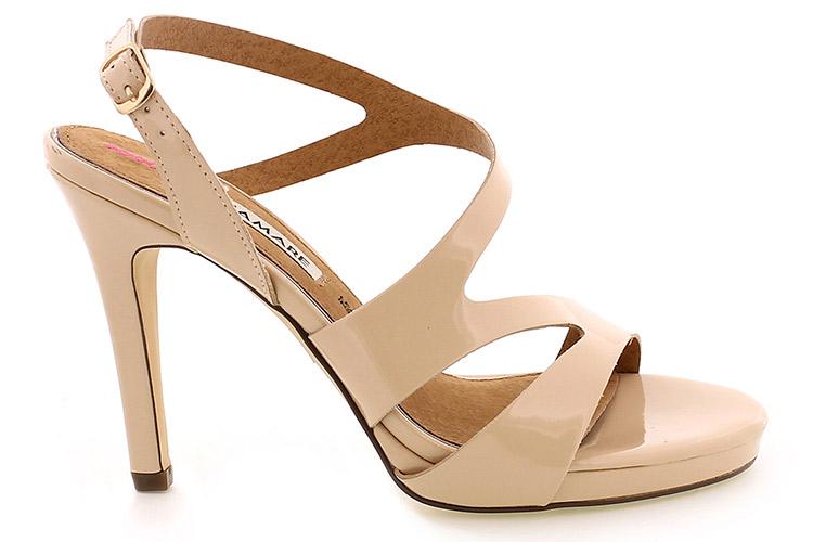 Zapatos de mujer sandalias de tacón beige