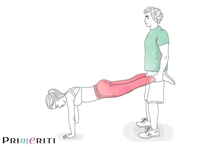 ejercicios para hacer en pareja número tres champion en primeriti