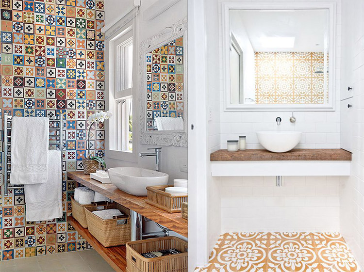 Azulejos vin licos para ba o y cocina hogar primeriti - Revestimiento vinilico para banos ...