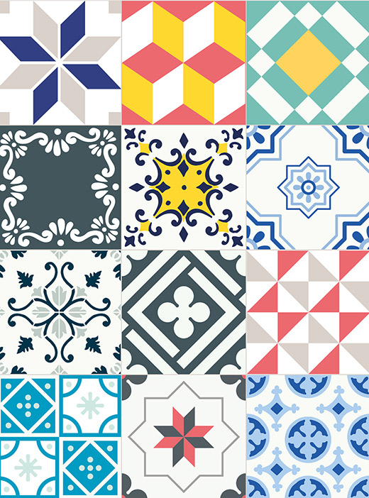 azulejos vinílicos en Primeriti patchwok