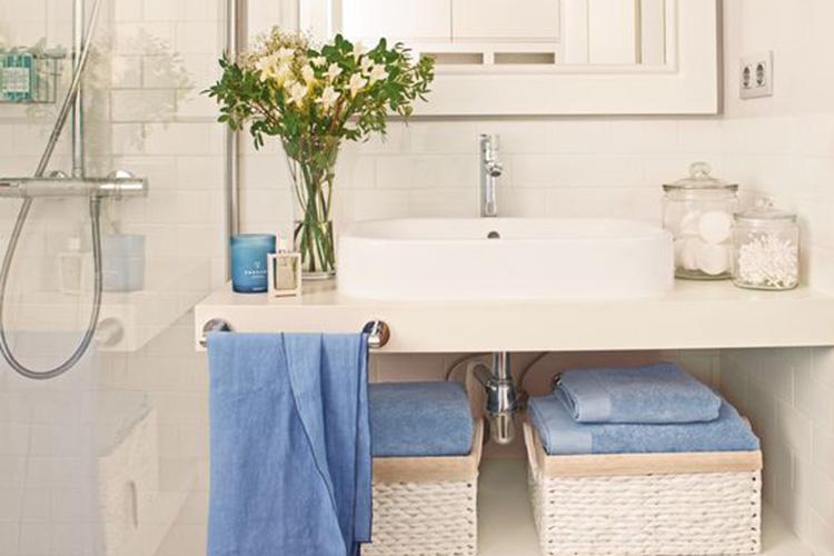 decoración baños toallas de algodon en primeriti