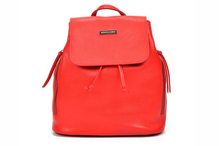 bolsos de colores con descuento en primeriti. mochila roja
