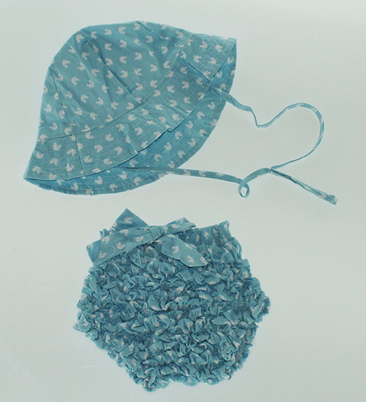 ropa de playa para bebés en primeriti Patricia de Mendiluce conjunto