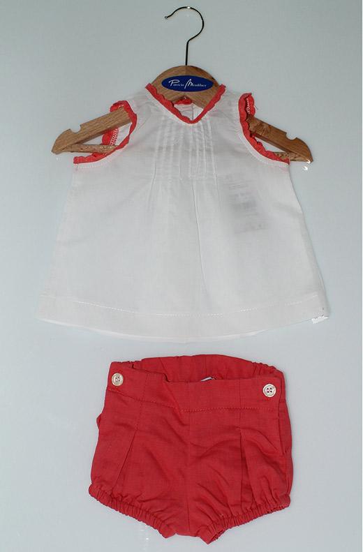 ropa de playa para bebés en primeriti Patricia de Mendiluce conjunto pantalón