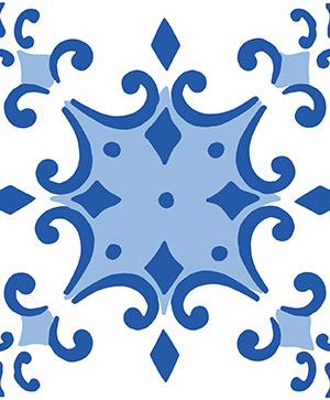 azulejos vinílicos en primeriti azules