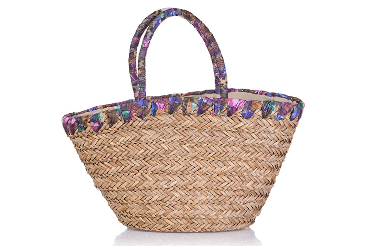 estilo boho chic Peace and Love en Primeriti bolsos rafia