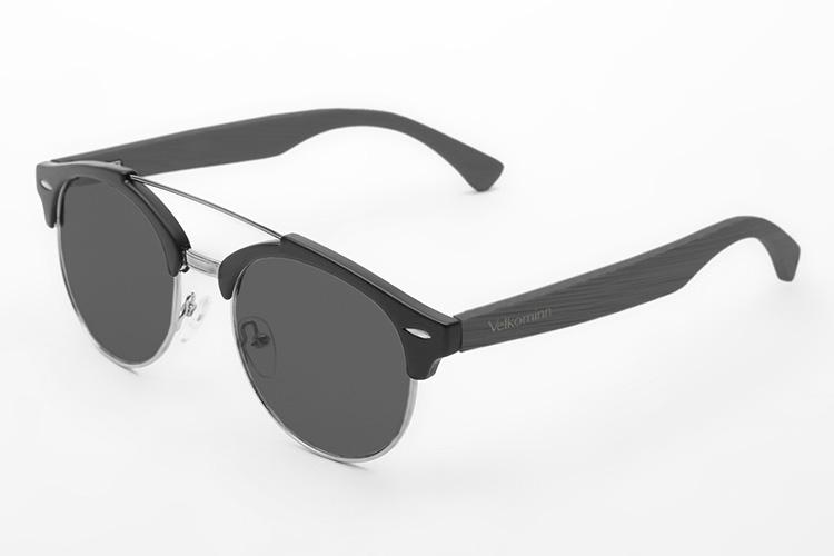 gafas de sol con cristales de colores vilkominn en primeriti negras