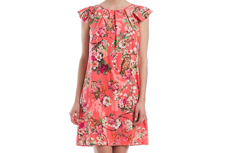 vestdos cortos estampados de niza en primeriti. vestido de flores