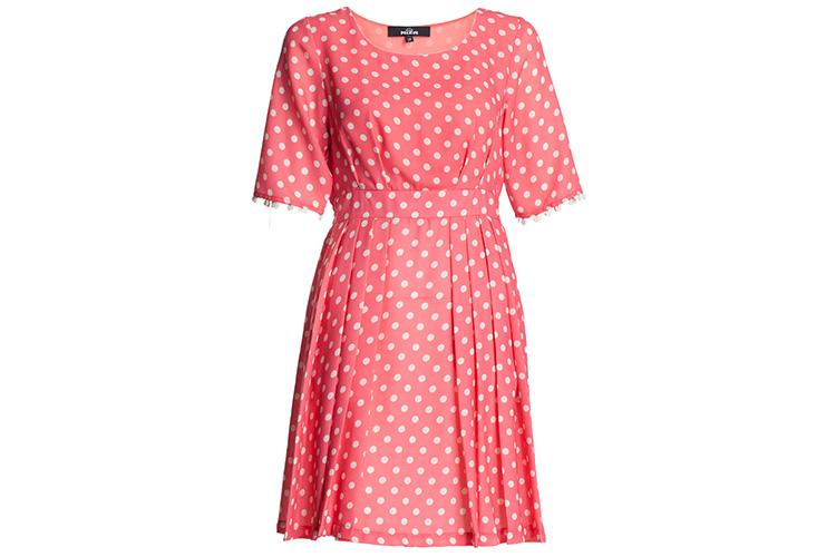 vestdos cortos estampados de niza en primeriti. vestido de lunares