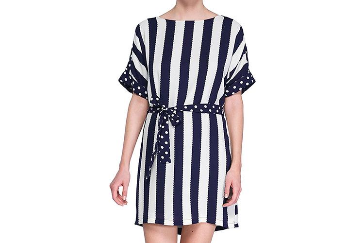 vestdos cortos estampados de niza en primeriti. vestido de rayas