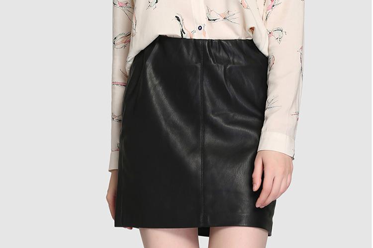 Faldas para otoño. Falda de polipiel