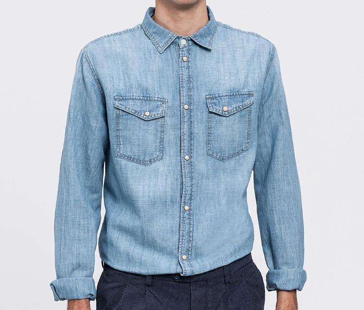 Denim masculino de Pepe Jeans en Primeriti. Camisa vaquera azul claro