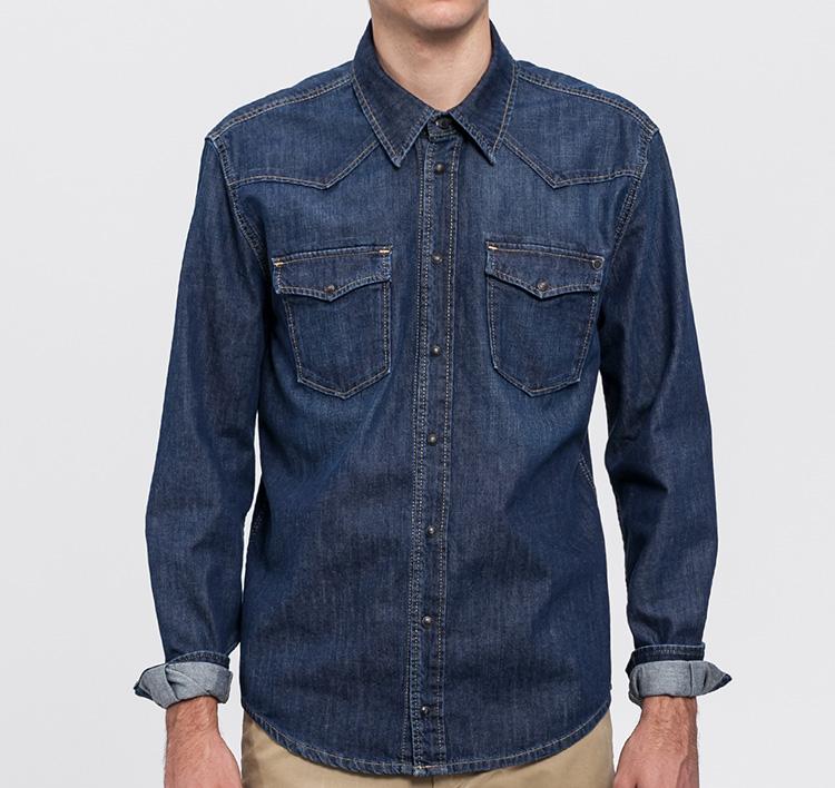 Denim masculino de Pepe Jeans en Primeriti. Camisa vaquera oscura