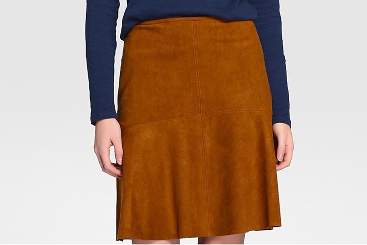 Faldas para otoño Falda de antelina