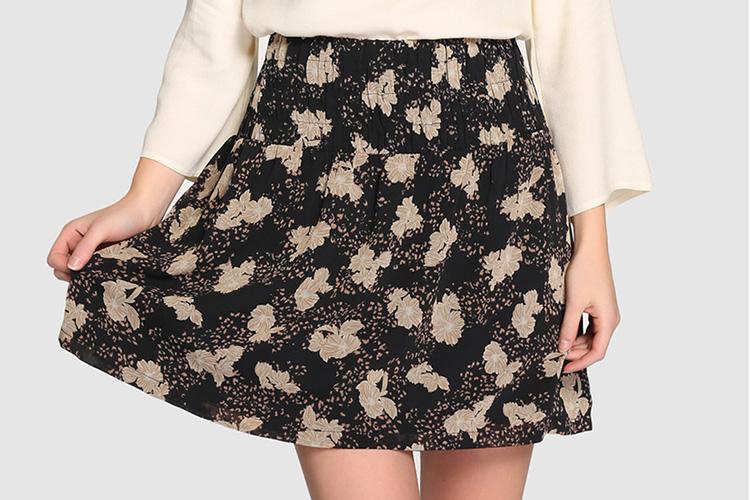 Faldas para otoño. Falda estampada