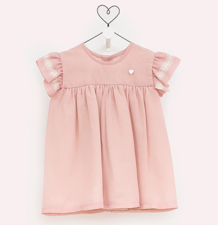 Moda infantil en Primeriti. Vestido rosa